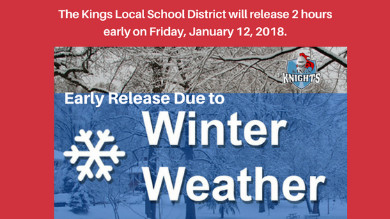 2 hour early release on 1-12-2018