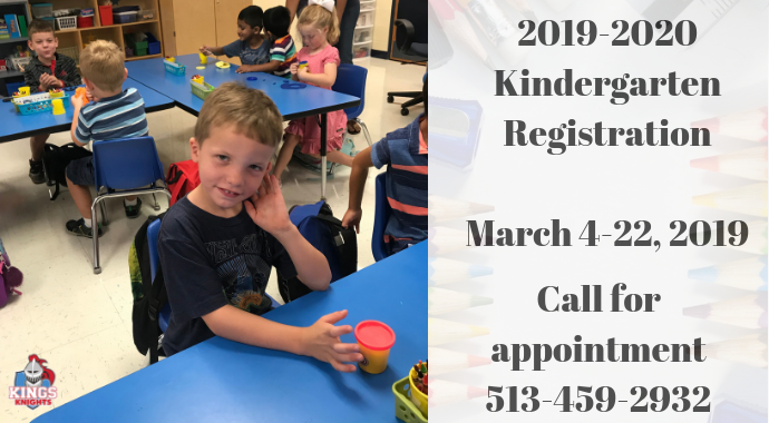 2019-2020 Kindergarten Registration graphic