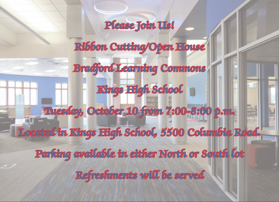 Bradford Learning Commons Open House Invitation