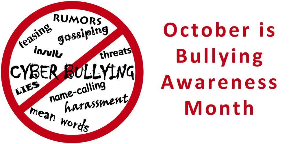 Bullying prevention month graphic