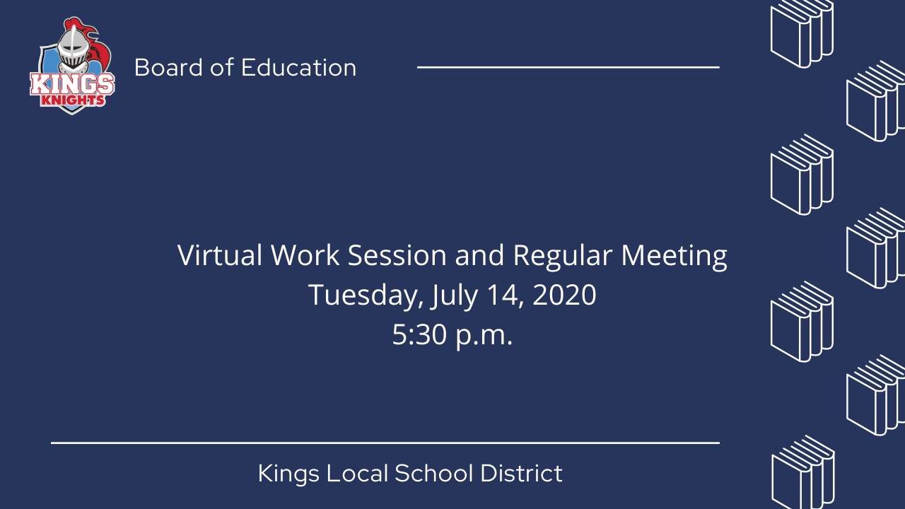 Kings Board of Education Meeting Graphic