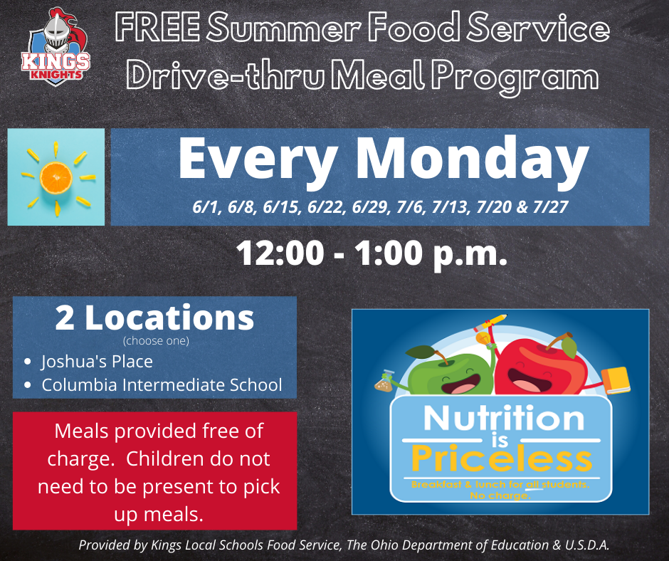 Kings Summer Meal Program Graphic