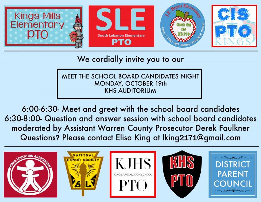Candidates Night Invitation graphic