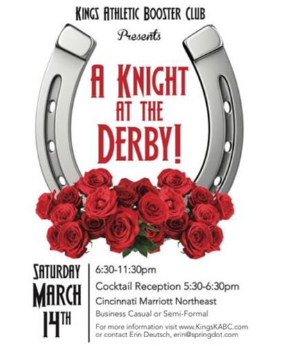Knight at the Derby Fundraiser graphic