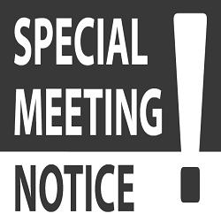 Special board meeting graphic