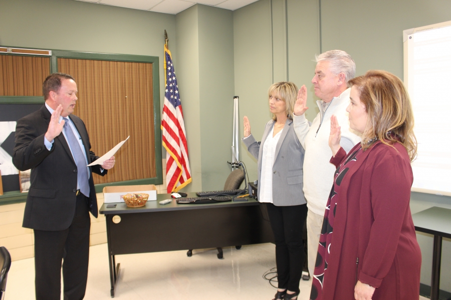 Three new board of education members take oath of office