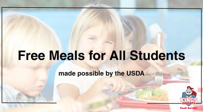 Free Meals for All Kings Students