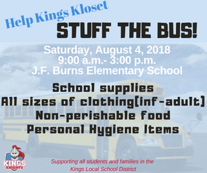 Kings Kloset Stuff the Bus Event