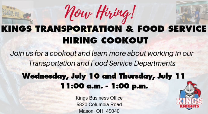 Kings Food Service and Transportation Hiring Fair