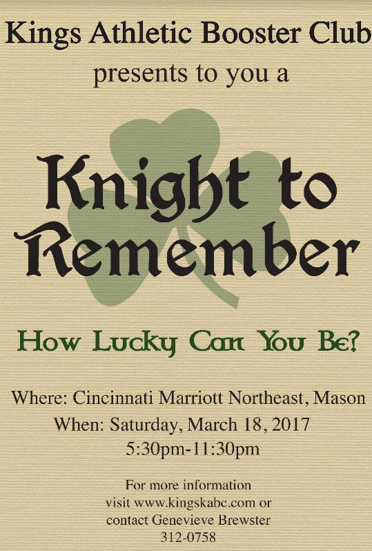 Knight to Remember flyer