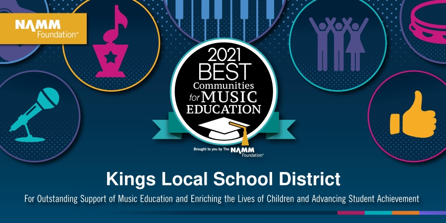 Kings Named Best Community for Music Education graphic