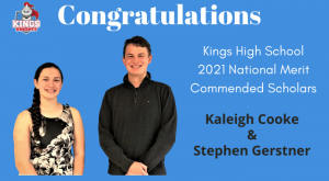 2021 KHS National Merit Commended Scholars