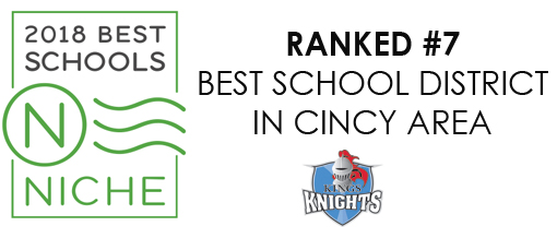 Niche K-12 Ranks Kings School District #7 in Cincy Area graphic