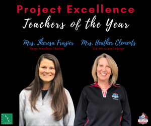 Heather Clements, Theresa Frazier Project Excellence Winners