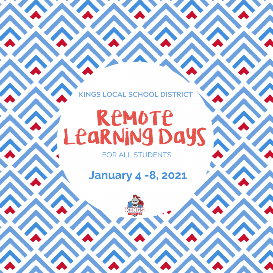 Remote Learning Days January 4-8, 2021