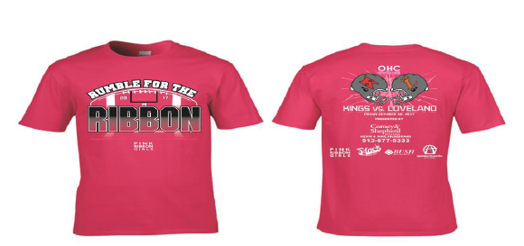 Rumble for the Ribbon T-shirt graphic