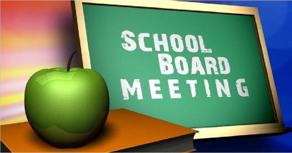 school board meeting graphic