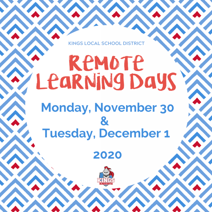 Remote learning days Nov.30 & Dec. 1