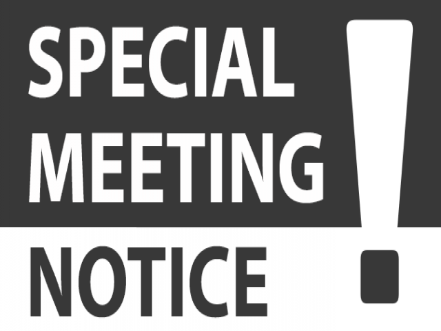 Special Meeting graphic