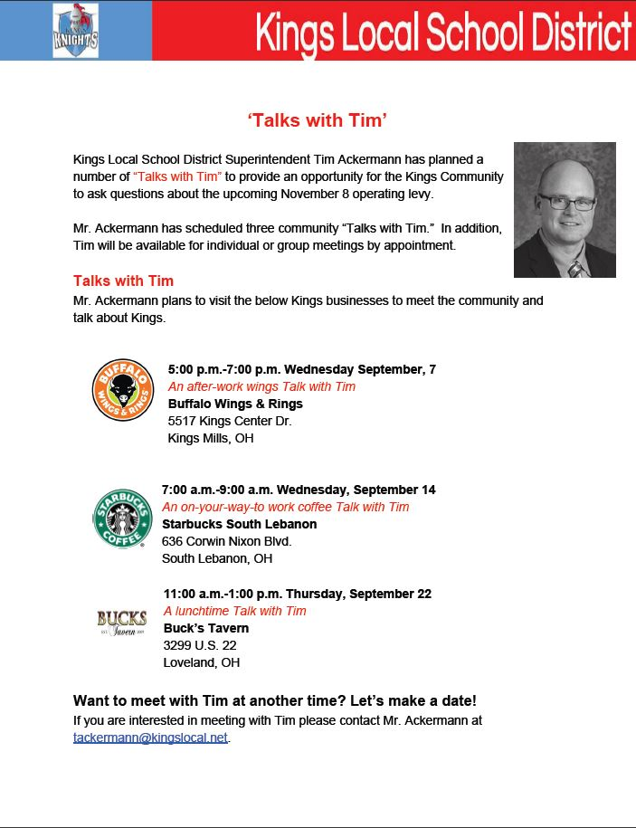 Talks with Tim graphic