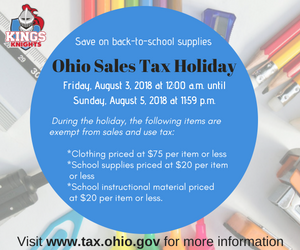 Ohio Sales Tax Holidy