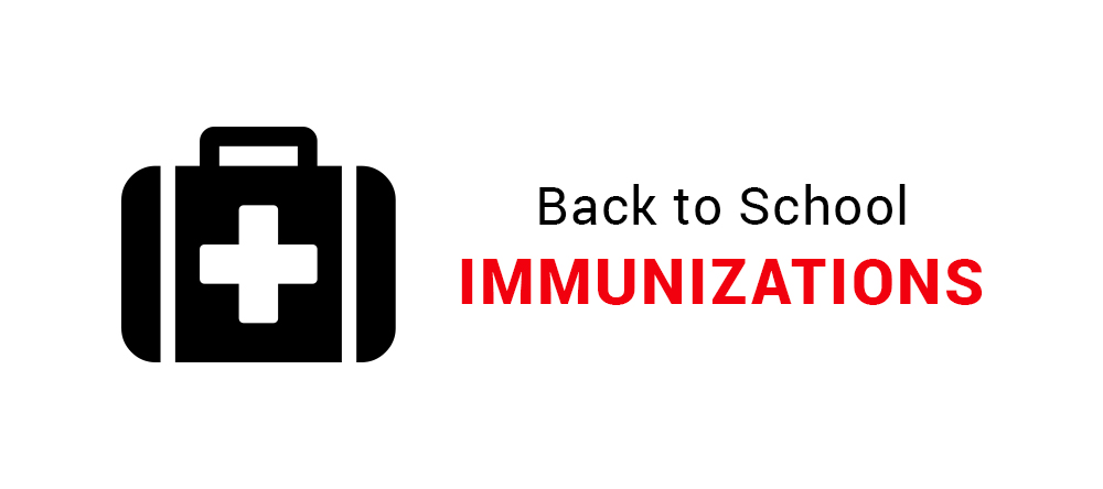 Back to school immunizations graphic