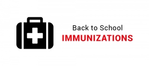 Back to school immunizations graphic