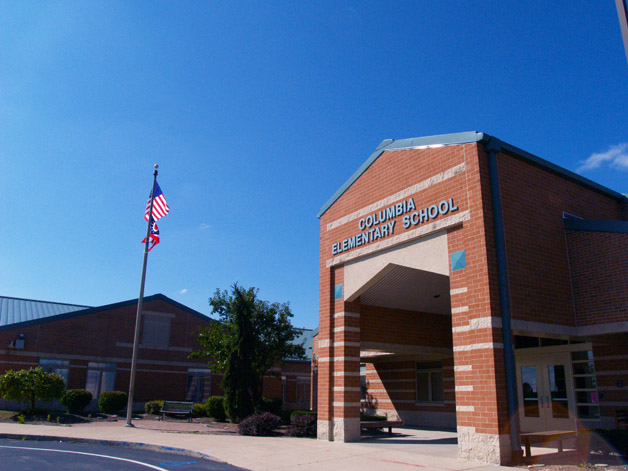 Columbia Intermediate School Front entrance