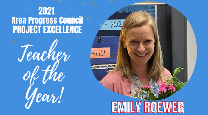 Emily Roewer Teacher of the Year