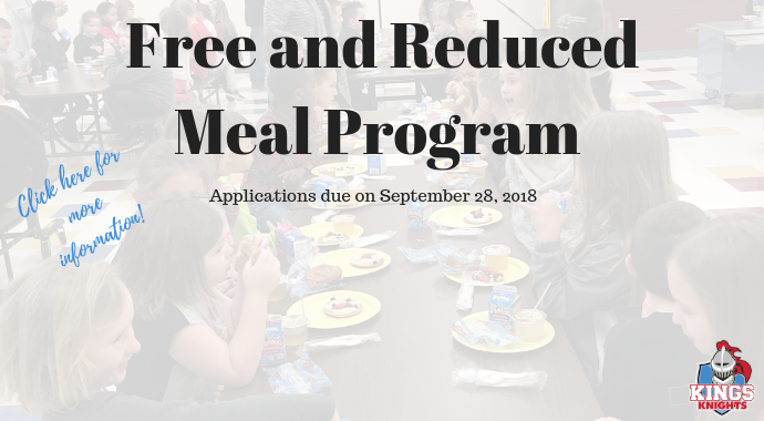 Free and Reduced Meal Program Graphic