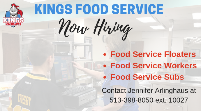 Now Hiring Food Service Workers