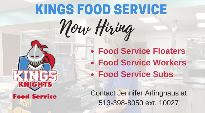 Kings Food Service Now Hiring