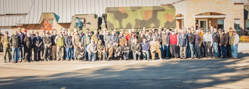 The whole group of Veterans who visited JFB on Veterans Day